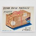 Carpe Diem - CD Brown Paper Package Card