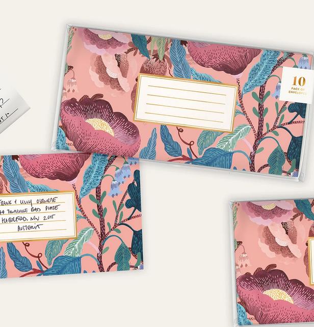 Bespoke Letterpress Swedish Forest Envelopes, Set of 10