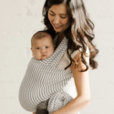 Solly Baby - SOB The Wrap in Natural & Grey Stripe (natural base with heathered grey stripes)