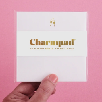 Inclosed Letterpress Co. - ICL Champagne Charmpad