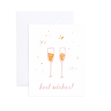 Evergreen Summer - ES Champagne Best Wishes Card (Betsy Card)