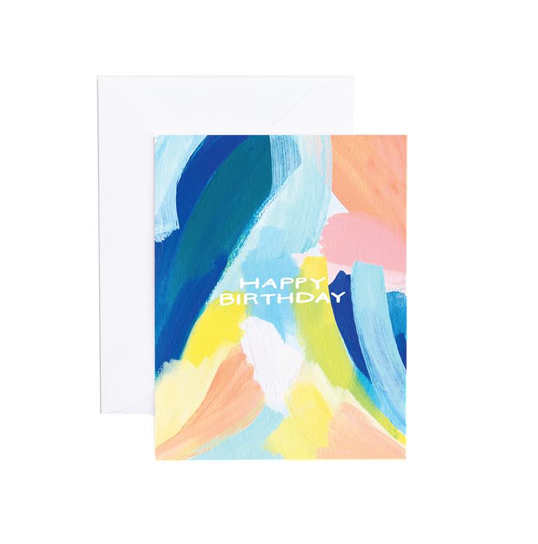 Evergreen Summer - ES Watercolor Birthday Card (Amanda Card)