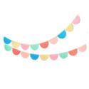 Meri Meri - MEM Rainbow Tissue Paper Scallop Garlands