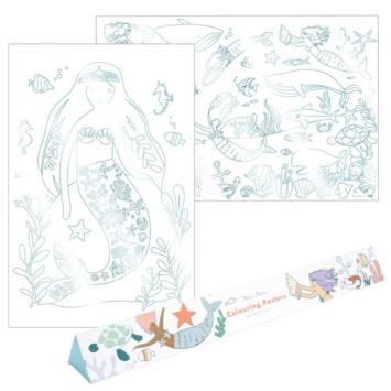Meri Meri - MEM Mermaid Colouring Posters