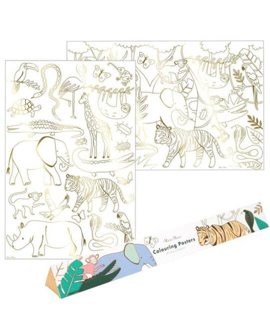 Meri Meri - MEM Jungle Colouring Posters