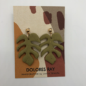 Dolores Ray - DR Monstera Leaf Stud Earrings