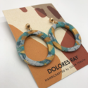 Dolores Ray - DR Hoop Stud Earrings (assorted colors)