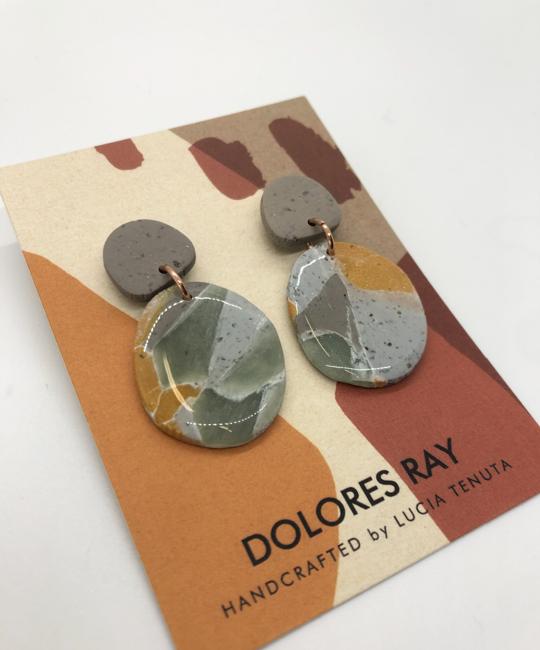Dolores Ray - DR Elongated Teardop Stud Earrings