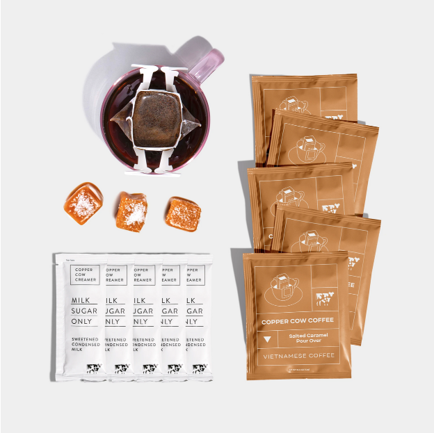 Copper Cow Coffee - CCC Salted Caramel Coffee, Pack of 5