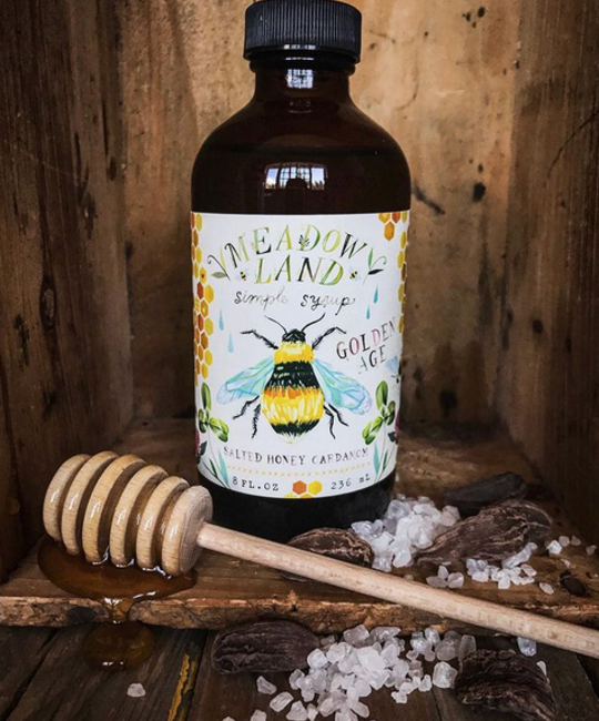 Meadowland - MEA Golden Age Simple Syrup (Salted Honey Cardamom)