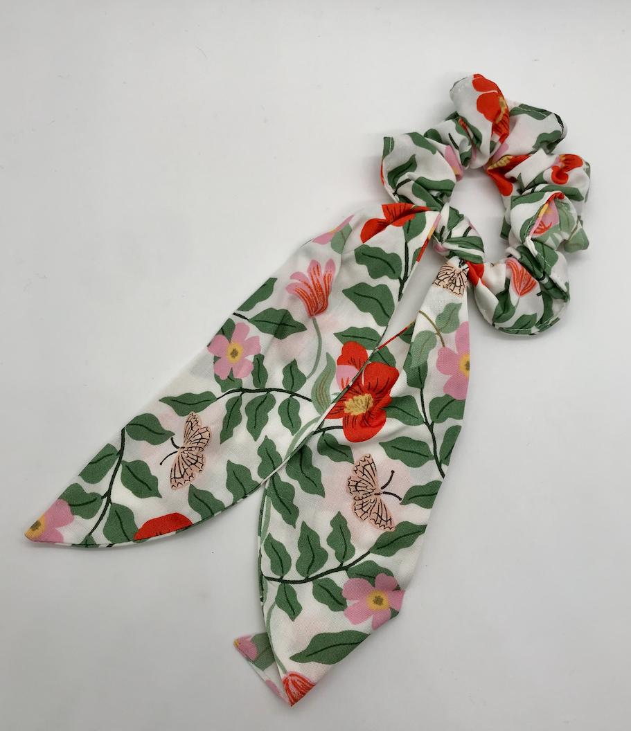 Felicity Howells - FH Rifle Paper Co White Primrose Hair Scrunchie
