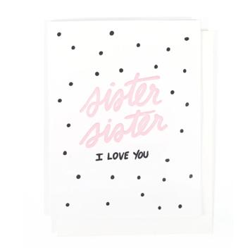 Thimblepress - TBP Sister I Love You Card
