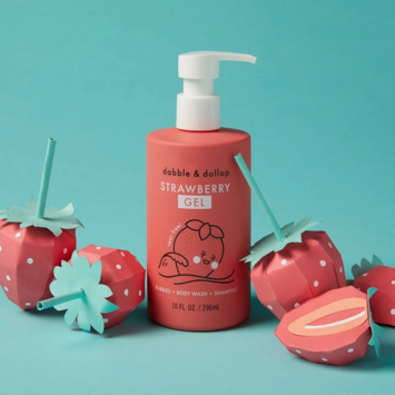 Dabble & Dollop - DD Kid's Strawberry Gel: Bubbles. Body Wash. Shampoo.
