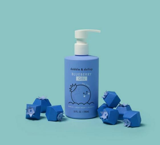 Dabble & Dollop - DD Kid's Blueberry Gel: Bubbles. Body Wash. Shampoo.
