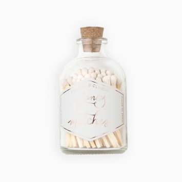 Frankie & Claude - FCL White Small Match Stick Jar (Fancy Matches)