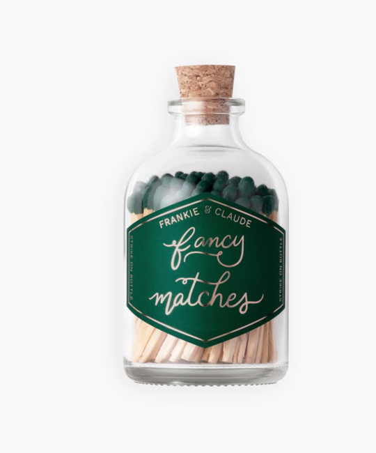 Frankie & Claude - FCL Forest Green Matchstick Jar (Fancy Matches)