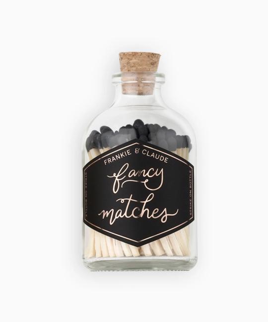 Frankie & Claude - FCL Black Small Match Stick Jar (Fancy Matches)