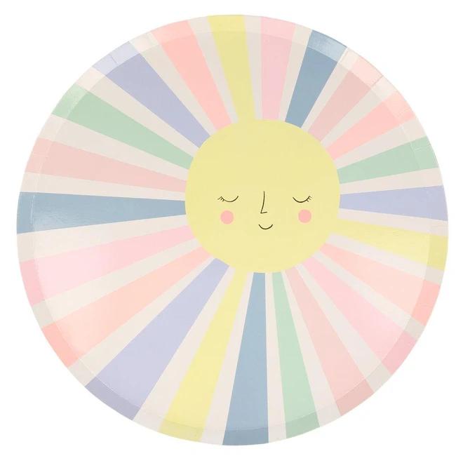 Meri Meri - MEM Rainbow Sun Plates, Set of 12