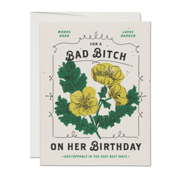 Red Cap Cards - RCC Bad Bitch Birthday Card