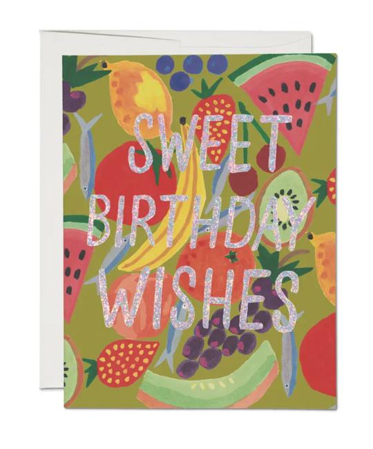 Red Cap Cards - RCC Fruity Birthday Foil Card