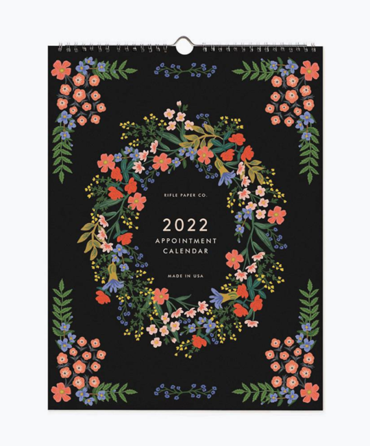 Rifle Paper Co - RP Rifle Paper Co 2022 Luxembourg Vertical Appointment Calendar