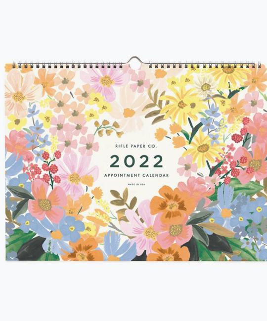 Rifle Paper Co - RP Rifle Paper Co 2022 Marguerite Horizontal Appointment Calendar