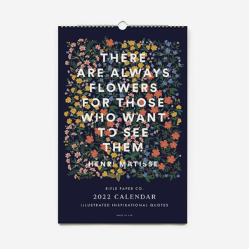 Rifle Paper Co - RP Rifle Paper Co 2022 Inspirational Quote Wall Calendar