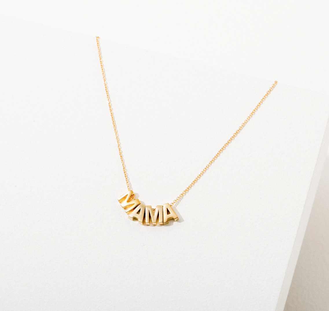 Larissa Loden Jewelry - LLJ Mama Necklace, 24k Plated Gold