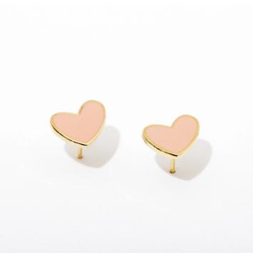 Larissa Loden Jewelry - LLJ Pink Heart Post Earrings
