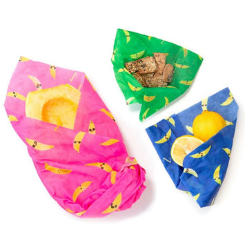 Z Wraps Eco-Friendly Food Wrap Set of 3, That's Bananas