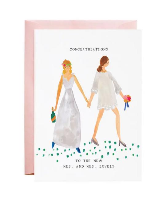 Mr. Boddington's Studio - MB New Mrs. and Mrs. Wedding Card