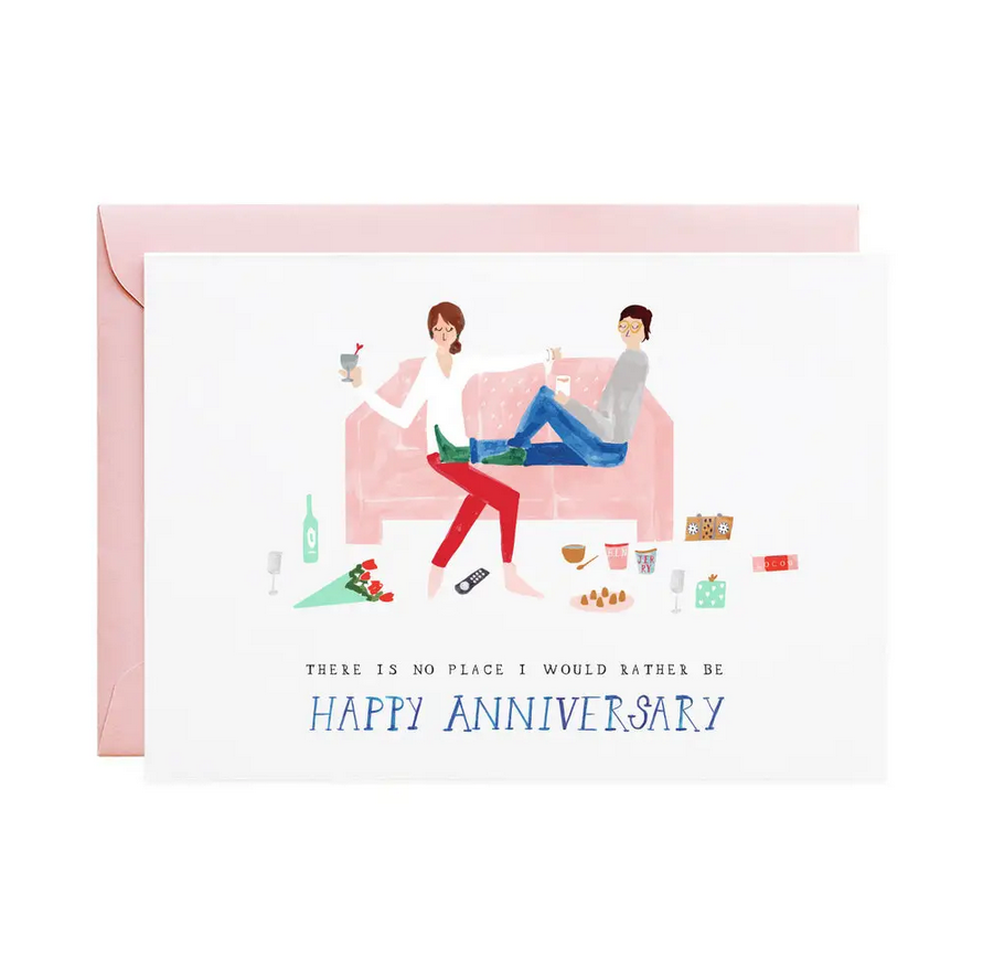 Mr. Boddington's Studio - MB No Place I'd Rather Be (Cheers from the Couch) Anniversary Card