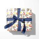 Emily Quigley Ink - EQI Raw Bar Gift Wrap, Roll of 5 Sheets
