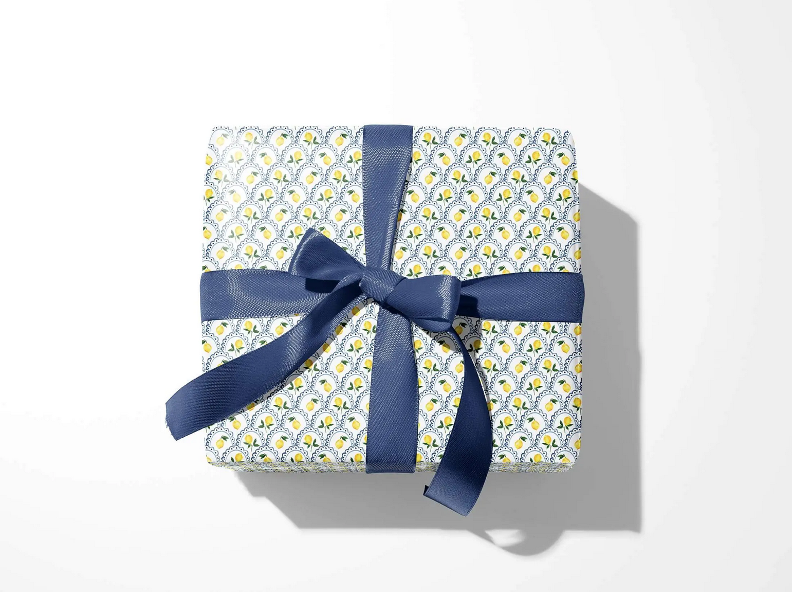 Emily Quigley Ink - EQI Lemon Scallop Gift Wrap, Roll of 5 Sheets