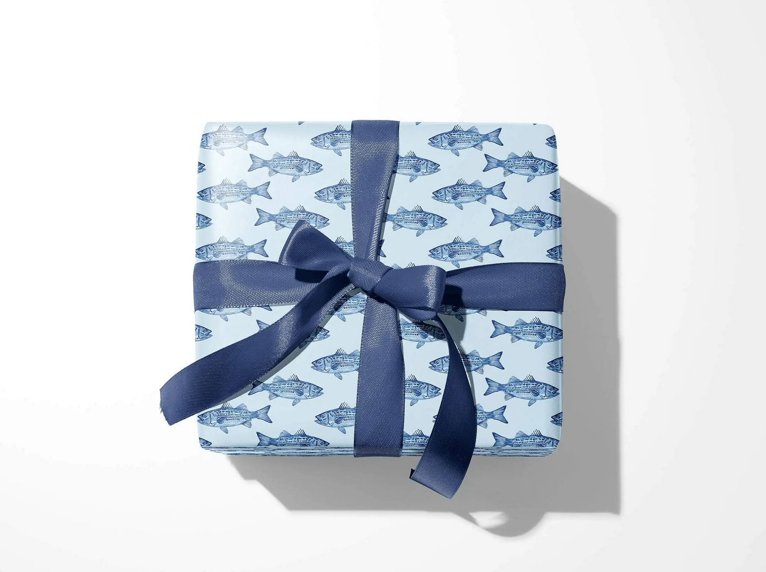 Emily Quigley Ink - EQI Blue Bass Gift Wrap, Roll of 5 Sheets
