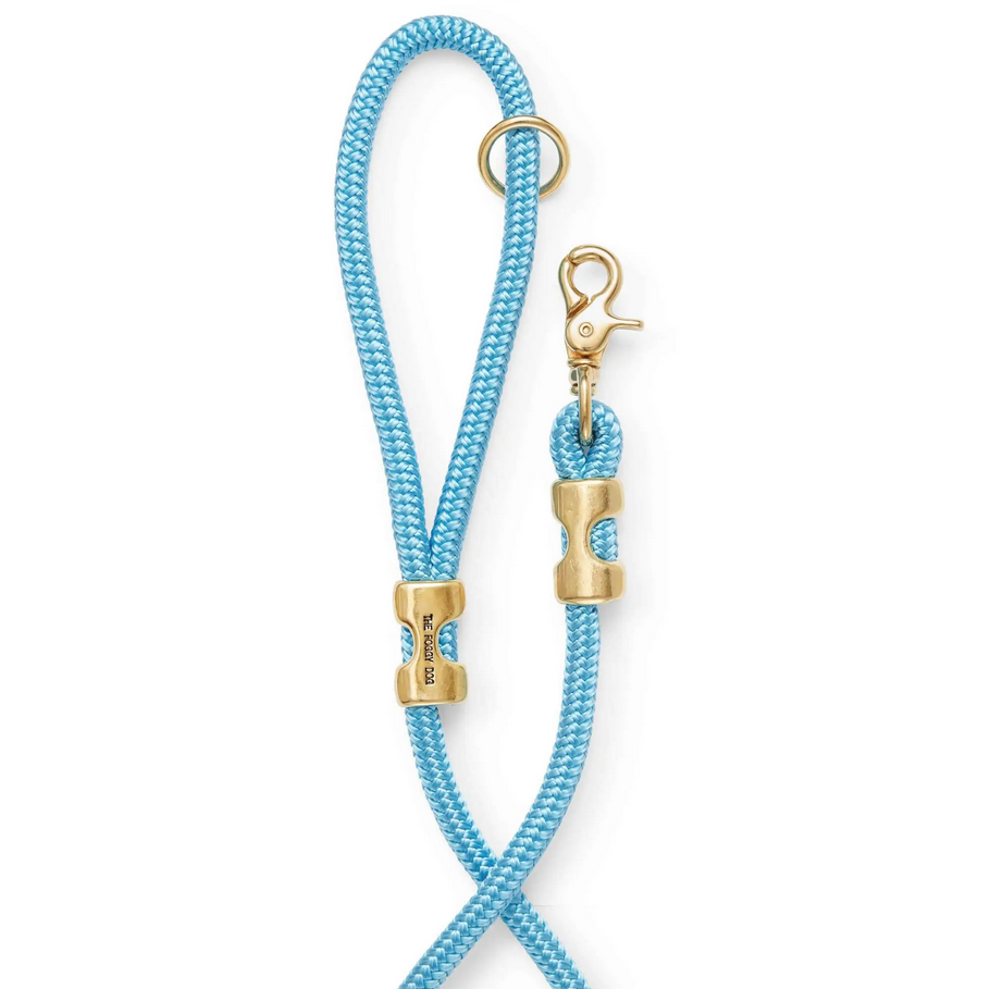 The Foggy Dog - TFD The Foggy Dog - Powder Blue Marine Rope Dog Leash, 6 ft
