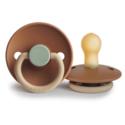 Mushie - MU Safari (Colorblock) and Sage Frigg Pacifier Set