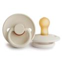 Mushie - MU Woodchuck and Cream Frigg Pacifier Set