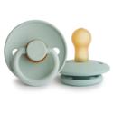 Mushie - MU Seafoam and Cream Frigg Pacifier Set