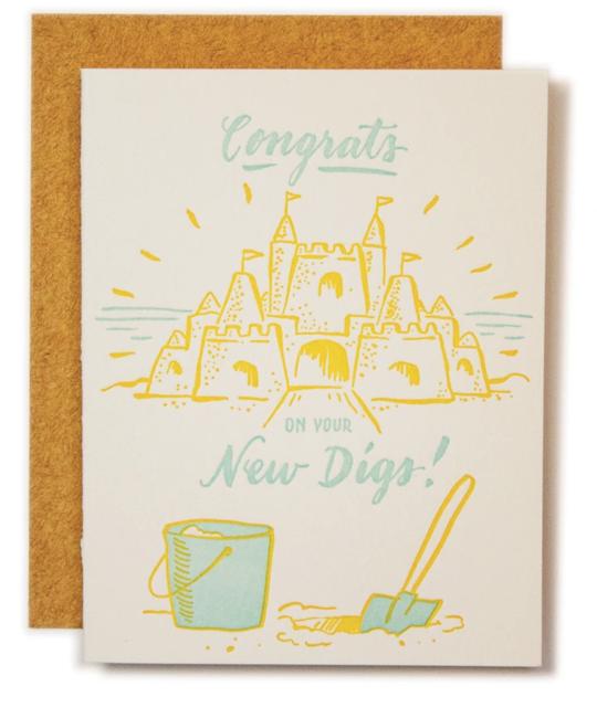Ladyfingers Letterpress - LF New Digs New Home Card