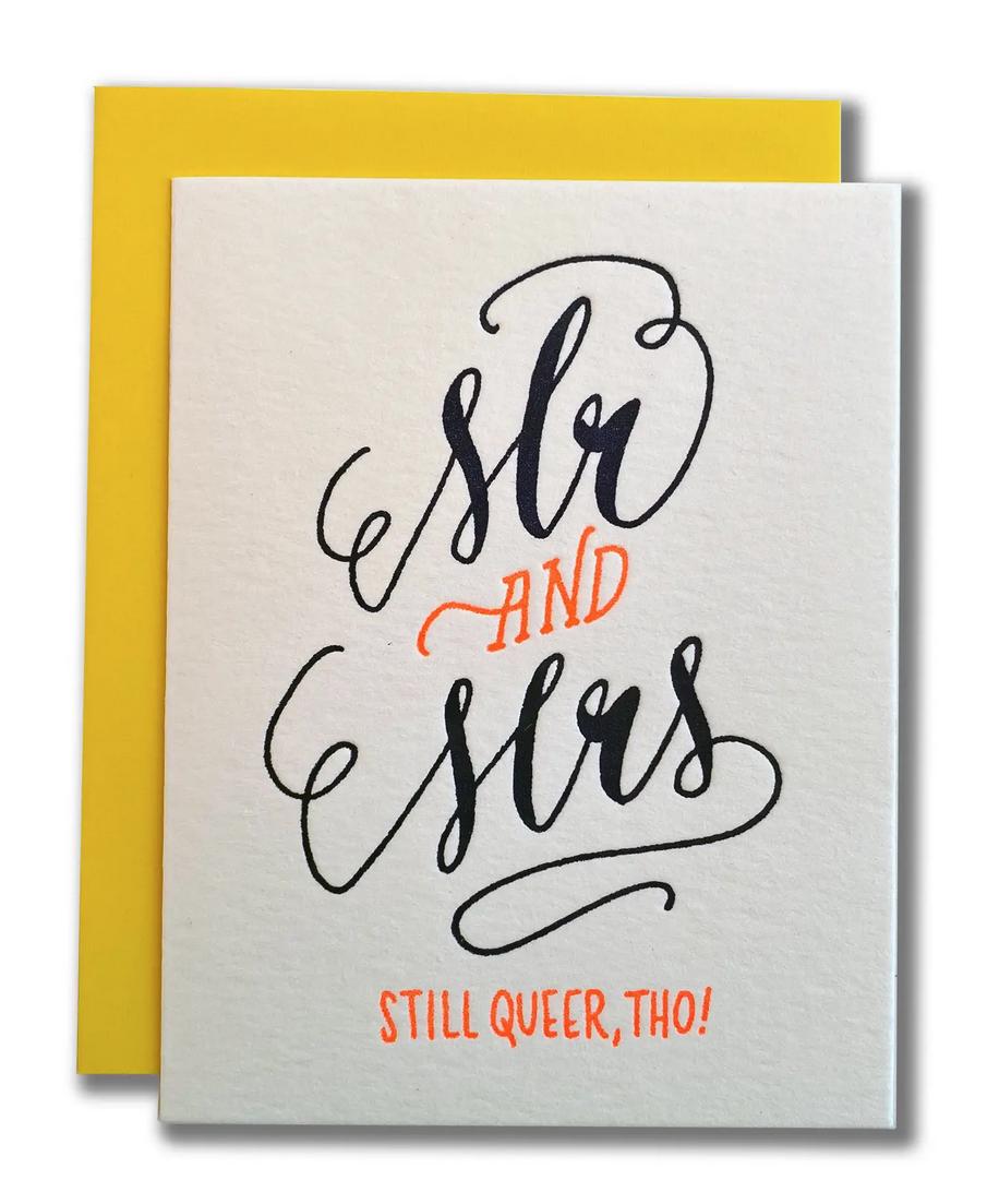 Ladyfingers Letterpress - LF Mr and Mrs (Still Queer) Wedding Card