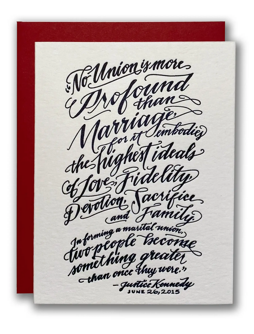 Ladyfingers Letterpress - LF Marriage Equality Card