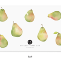 E. Frances Paper Studio - EF Pretty Pear Little Notes, set of 85