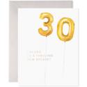 E. Frances Paper Studio - EF Helium 30 Balloon Birthday Card
