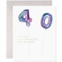 E. Frances Paper Studio - EF Helium 40 Balloon Birthday Card