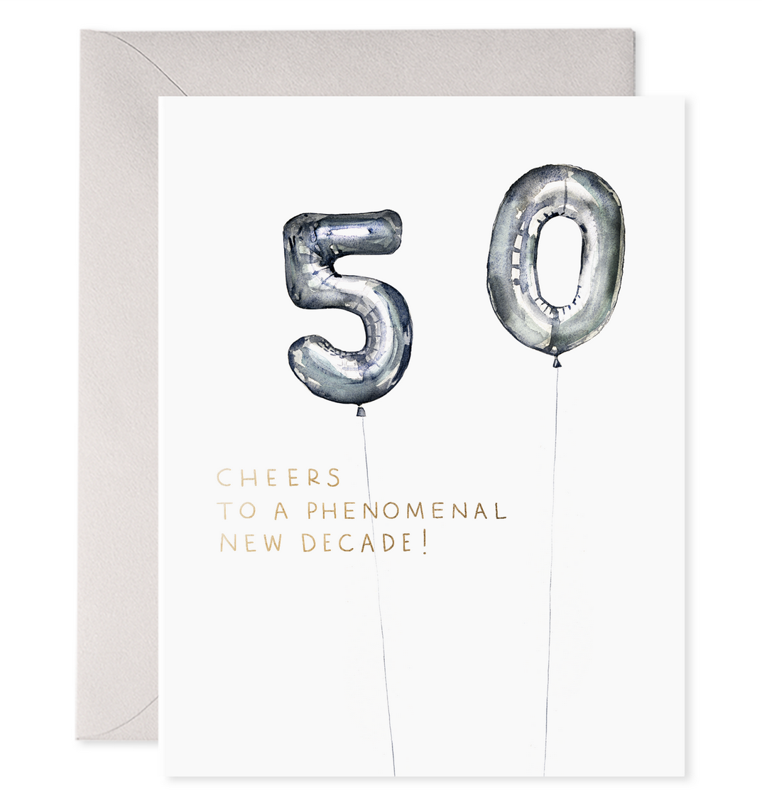 E. Frances Paper Studio - EF Helium 50 Balloon Birthday Card