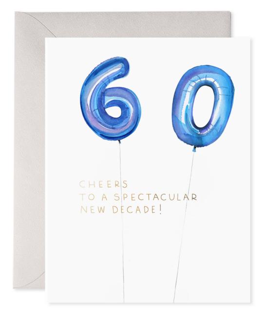 E. Frances Paper Studio - EF Helium 60 Balloon Birthday Card