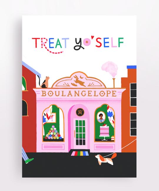 Angelope Design Treat Yo'Self (Pink Bakery) Card