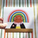 Angelope Design Rainbow Head Card