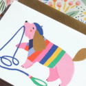 Angelope Design Pink Puppy Dog Card